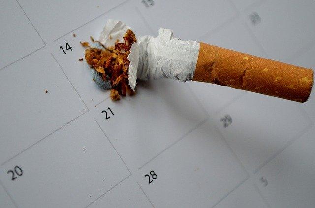 zničená cigareta