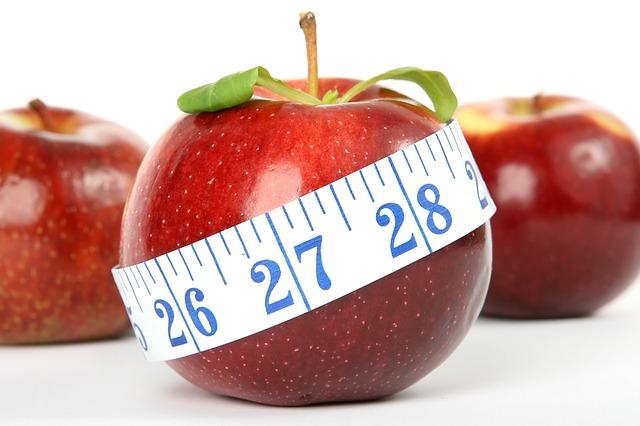 metr přes jablko