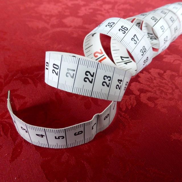 krejčovský metr, měření